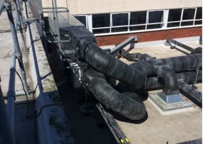 External Ductwork to AHU weatherproofed with PIB